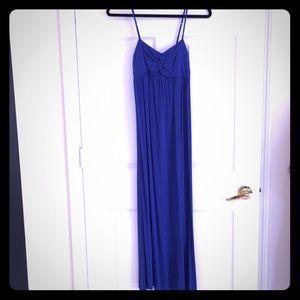 Nicole Miller New York maxi dress small blue